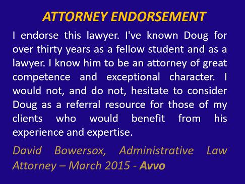 David Bowersox Endorsement March 2015 Avvo