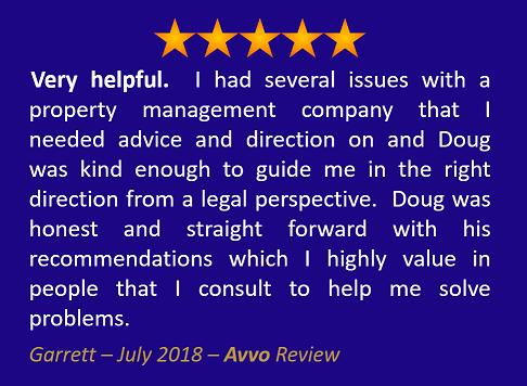 Garrett July 2018 Avvo Review