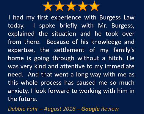 Debbie Fahr August 2018 Google Review