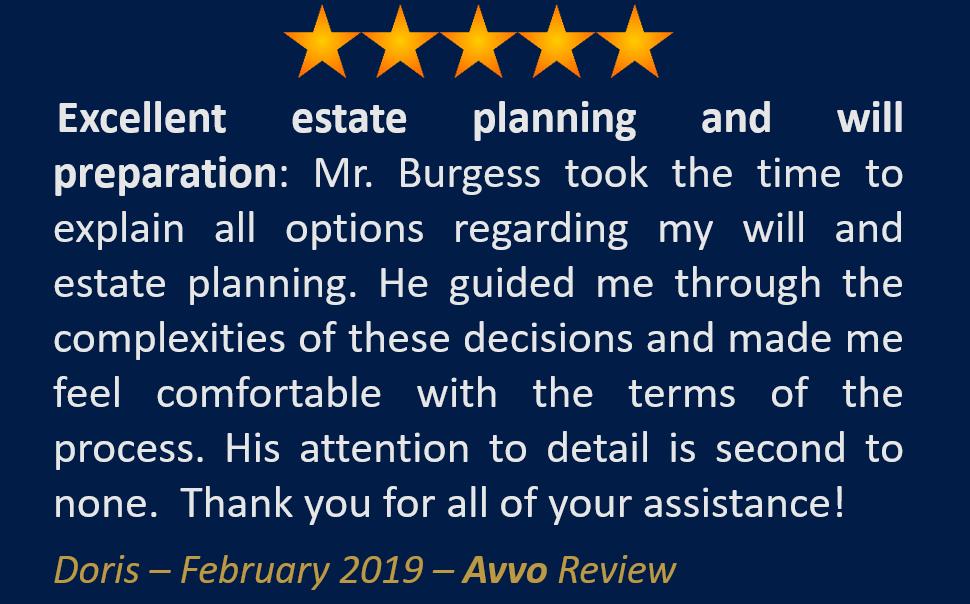 Doris February 2019 Avvo Review