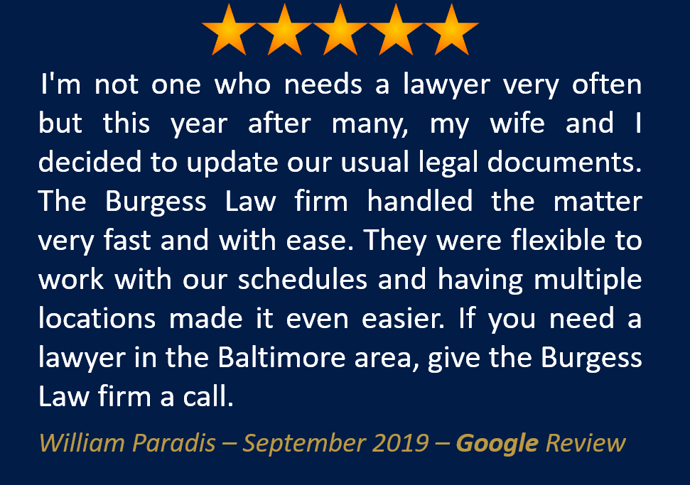 William Paradis September 2019 Google Review