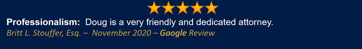 Britt L. Stouffer November 2020 Google Review
